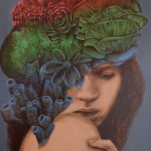 "Jaime Raphael Atienza ""Chaste"" Acrylic on Canvas 19 x 12 inches"