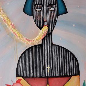 "Jennylane Balangbang ""I'm in Love"" Acrylic on Canvas 3 x 2 ft 2017"