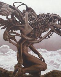 """Extinct"", Oil on Canvas, 3 x 3 ft. 2017"