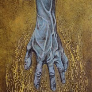 """Reach"" by Judeo Herrera, Acrylic on Canvas, 20 x 14 inches, 2016"