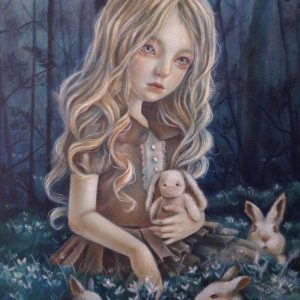 """""""Innocence"""" by Alexis Marga, Oil on Canvas, 24 x 18 inches, 2018"""