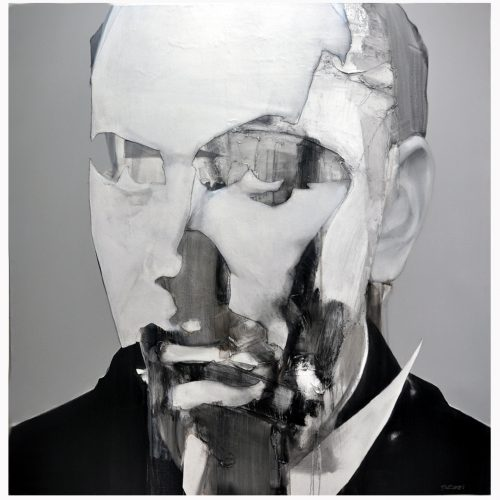 Azor Pazcoguin The Arbiter 60 x 60 inches _ oil on canvas 2018
