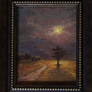 Midnight Express by Lawrence Borsoto, Oil on Masonite Board, 6.5 x 5 inches, 2018