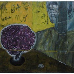 Hanap Ka Kausap Mo by Jade Abendan, Oil on Canvas, 12.2 x 13.8 inches, 2019 - 5,500