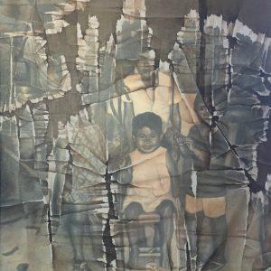 KUYA, COUSIN, AND PLAYMATE by Gretel Balajadia, OC, 4 x 3 ft, 2019