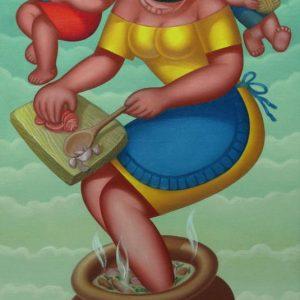 Sinigang ni Nanay 24x36 Oil on canvas 2009