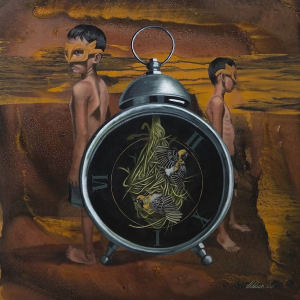 Time Stands Still by Aldron Achinges, Acrylic on Canvas, 24 x 24 inches, 2019