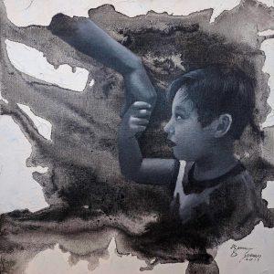 Mano Po by James Sanos Jr, Acrylic on Canvas, 24 x 24 inches, 2017