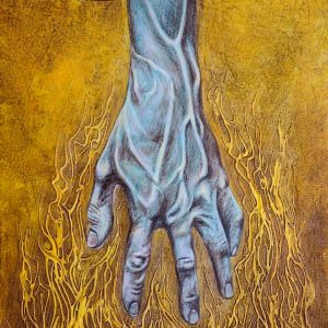 Reach by Judeo Herrera, Acrylic on Canvas, 20 x 14 inches, 2016