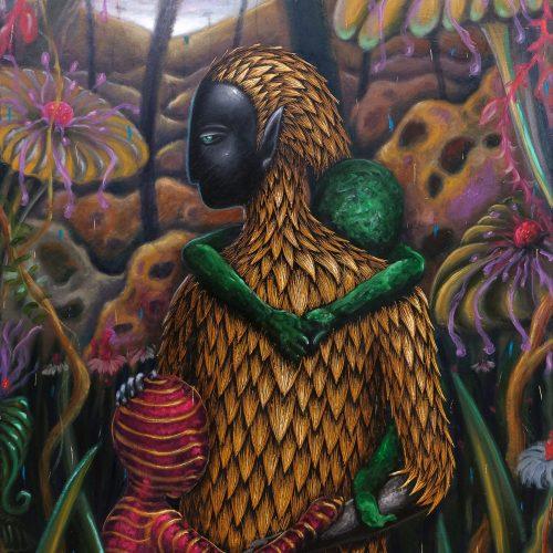Sagúkom by Michael Delmo, Oil on Canvas, 48 x 36 inches, 2020.