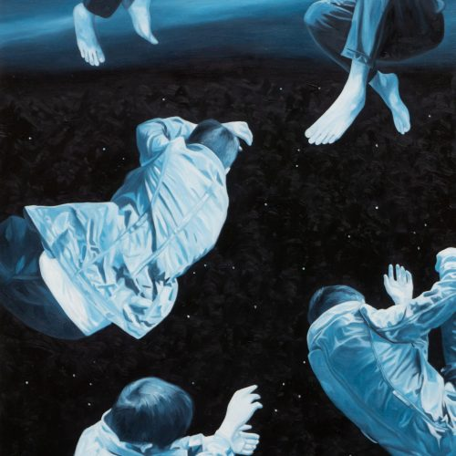 """""""FLOAT ON 3"""" by Edwin Martinez, Oil on Canvas, 24 x 18 inches, 2020"""