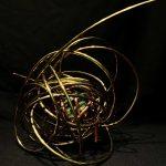 """#15. """"Creative"""", 12""""x14""""x10"""", green quartz, copper, brass 2020"""
