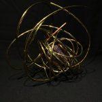 """#5. """"Mental Clarity"""" 11""""x13""""x10"""", celestine aura, copper, brass 2020"""