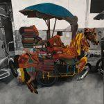 ASYMMETRICAL CAROUSEL 1 - Clark Manalo, Acrylic on Canvas, 48 x 48 inches, 2021