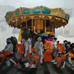 GRAND CAROUSEL - Clark Manalo, Acrylic on Canvas, 48 x 48 inches, 2021