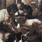 "Mark Martinez, ""PUI 1"", Oil on Canvas, 48 x 65 inches, 2021"