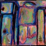 Cerebellum Study (present) 1 of 2, Juno Vizcarra, Mixed Media on Paper, 5x7.1 inches, 2021
