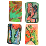 Myocardium 4, Juno Vizcarra, Colored Pencil on Paper, 7x8 inches, 2021