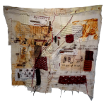 Part by Part and Piece by Piece, Katherine Nunez, Thread, Textile and Eco-dye, 33x36 inches, 2021