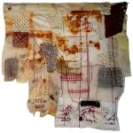 Small tiny gestures leading to what?, Katherine Nunez, Thread, Textile and Eco-dye, 28x27 inches, 2021