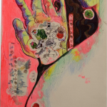 Spindles Series 2 of 3, Juno Vizcarra, Mixed Media on Paper,10.5x15 inches, 2021
