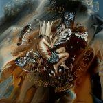 """Aldron Achinges, """"SAKALAM"""", Acrylic on Canvas, 24 x 24 inches, 2021"""