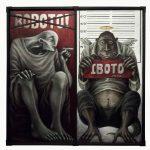 """Cedrick Dela Paz, """"Palsipikadong Kandidato, Kwalipikadong Pakitang Tao"""", Acrylic on Canvas, 36 x 36 inches, 2021"""