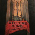 "Mark Laza, ""Repatriated"", Oil on PVC Wood, 36 x 24 inches, 2021"